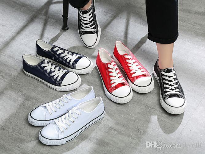 Sıcak satmak Klasik conve2s2e Unisex DÜŞÜK En Yetişkin Kadın Erkek Tuval Kaykay Ayakkabı Güpürlü Yukarı Günlük Ayakkabılar Sneaker ayakkabı ücretsiz gemi