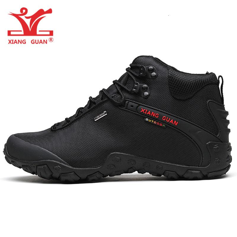 Xiang GUAN Man Yürüyüş ayakkabı erkekler siyah Trekking Bot Orta Kesim Nefes Spor Kamp Açık Trail Sneaker T190920 Walking tırmanışı
