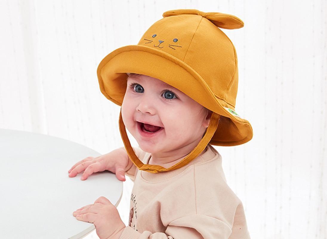 TOU - Baby Jungen und Mädchen Cartoon Sonnenhut Kind Baumwolle Strand Hut Kinder schöne Sommerhut 1pc geben Verschiffen
