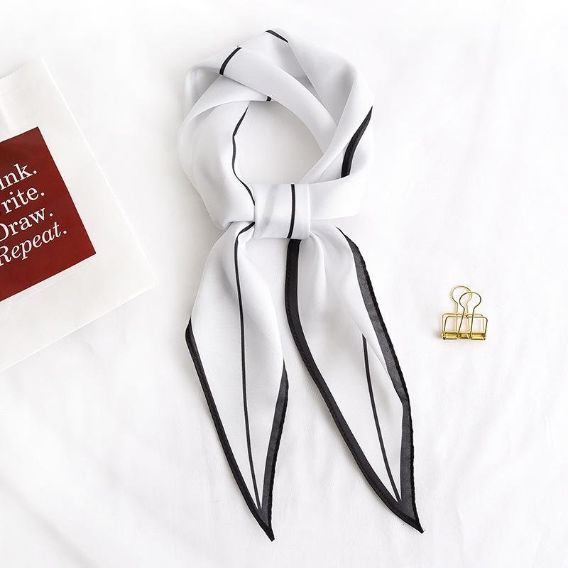 A nova primavera e verão 2020 coreano Mulheres cor sólida toalha Linha Diamante, Enfeite Moda lenços lenços lenços Isn