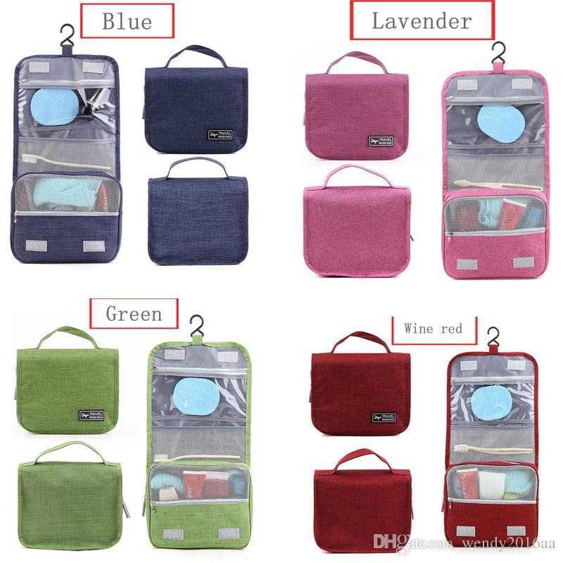 100pcs 2017 새로운 여성의 옥스포드 화장품 가방 인기있는 Stylylish 세면 용품 키트 야외 여행을위한 메이크업 가방 6 색