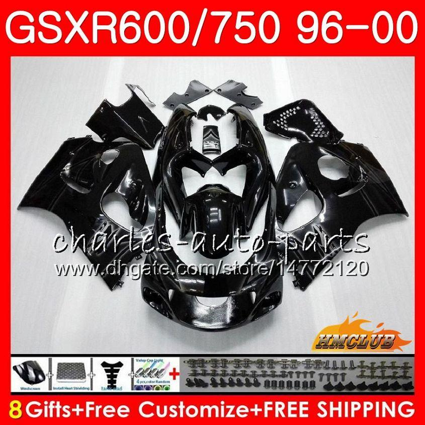 Body For SUZUKI SRAD GSXR 750 600 GSXR-600 GSXR750 96 97 98 99 00 1HC.38 GSX-R750 stock black GSXR600 1996 1997 1998 1999 2000 Fairing kit