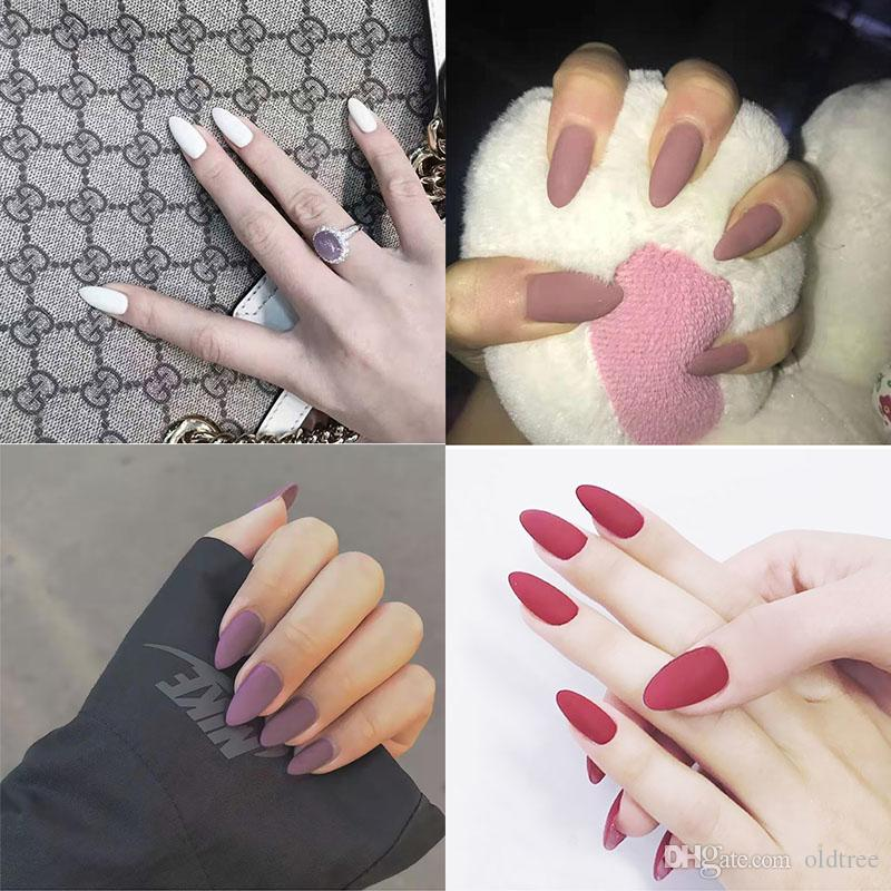 Wholesale Manicure Products Fake Nail Tips Full Cover Pink ...
