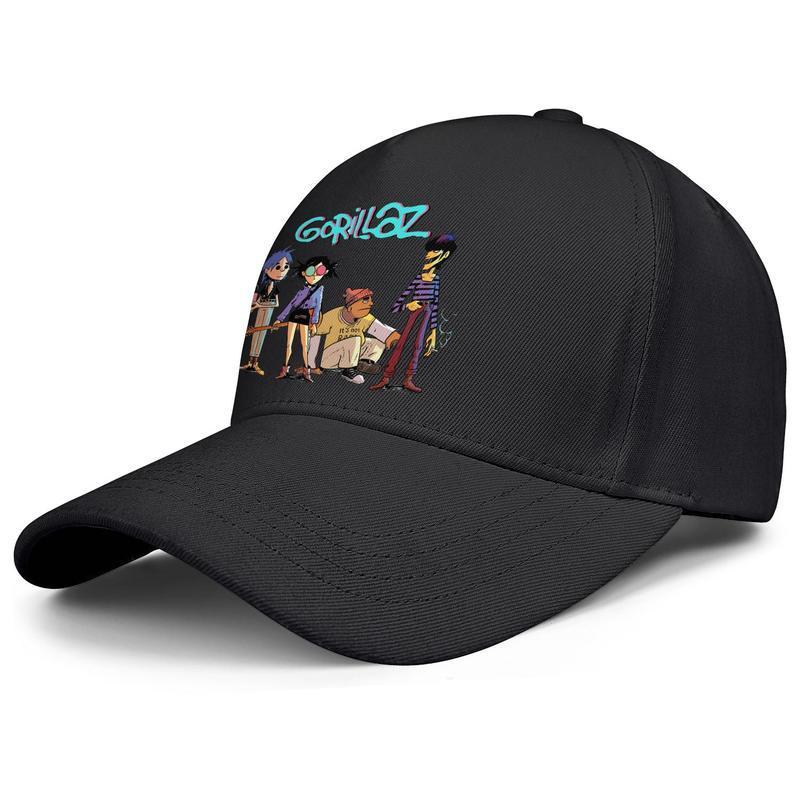 Erkek ve kadın beyzbol şapkaları moda kamyon şoförü şapka Gorillaz fan sanat logosu gorillaz Şimdi müzik grubu animasyonlu özel grafik kriket