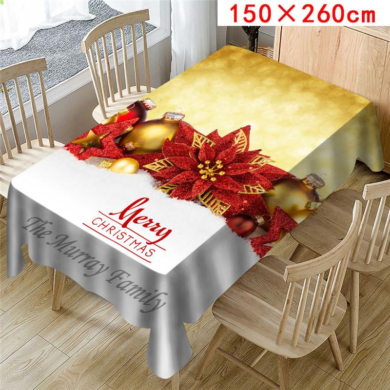 Polyester Fiber Print Tablecloth Cover Table Home Decor Bohemia Round Red
