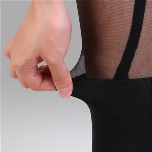 2018 Sexy Frauen-Schwarz-Fälschungs-Strumpfgürtel Strumpfhose über das Knie-Strümpfe Strümpfe Geschenke en gros
