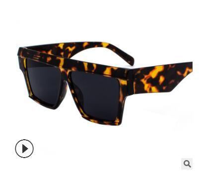 2019 nuevo estilo de Cuadrado DE SOL Hipster Beach gafas de sol retro calle Ins Foto redonda cara Gafas