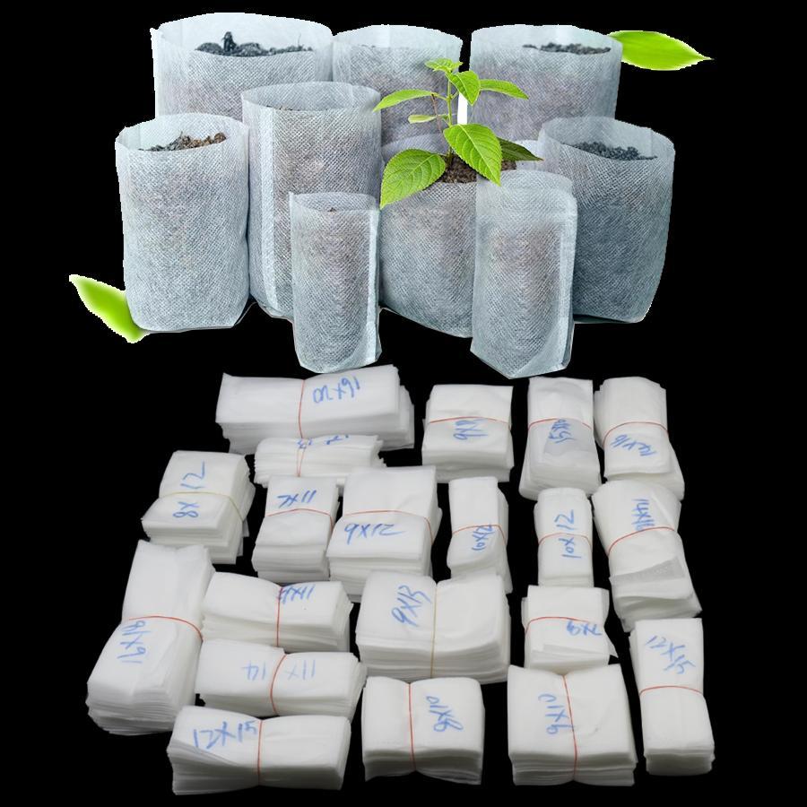Não-tecido Saco de Plântulas Planta Crescer Sacos de Tecido Potes de Mudas Flor Planta Sacos de Viveiro de Hortaliças Orgânicas Saco de Plantas Biodegradáveis GGA2145