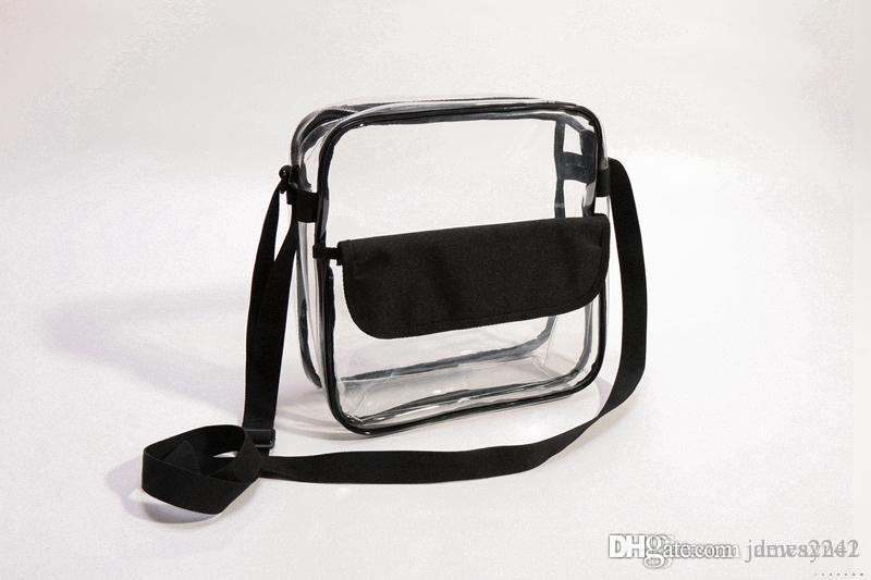AL8 New Clear Purse Approved Bag with Zipper and Shoulder Strap Do Custom Any Size Any coloR