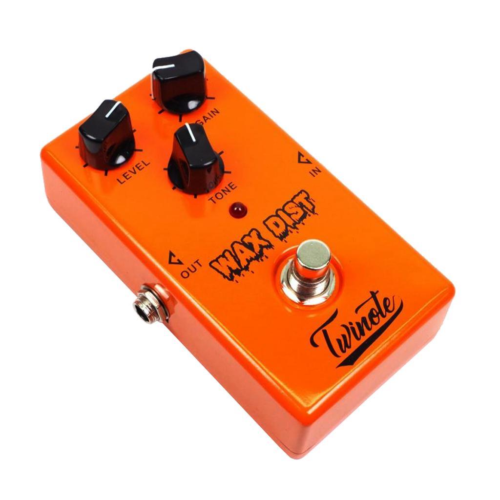 Distorsión solo efecto del pedal de bypass real para la guitarra de acompañamiento