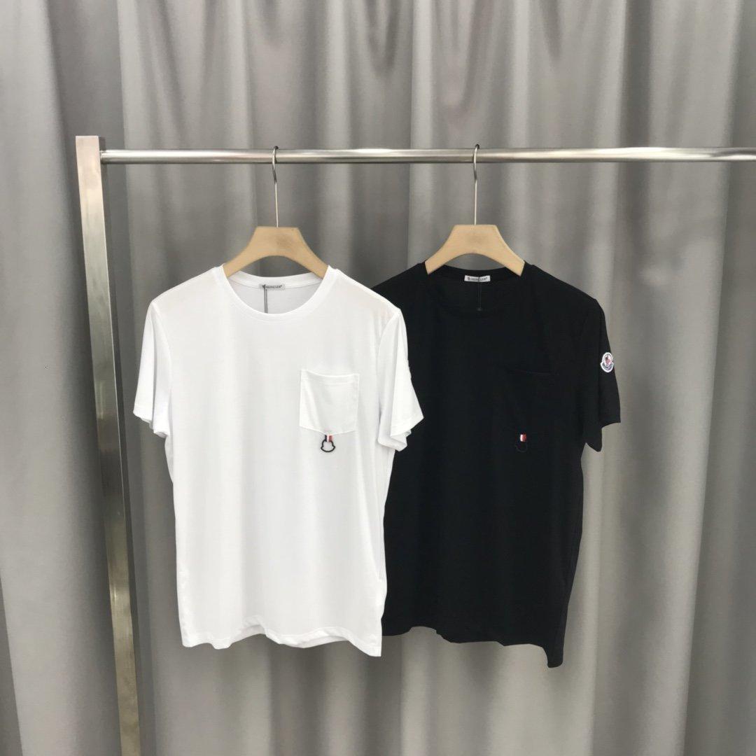2020 высокого качество новых мужчин с коротким рукавом летом моды простого стиля тенниски мужчина рубашкой лучших мужчинами одежда 304STDOG
