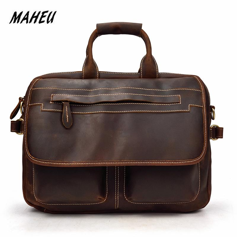 Men Briefcase Business Bag Man Bags Mens Laptop Tote Bag Mens Crossbody Shoulder Bag Leather Briefcases Men Maleta