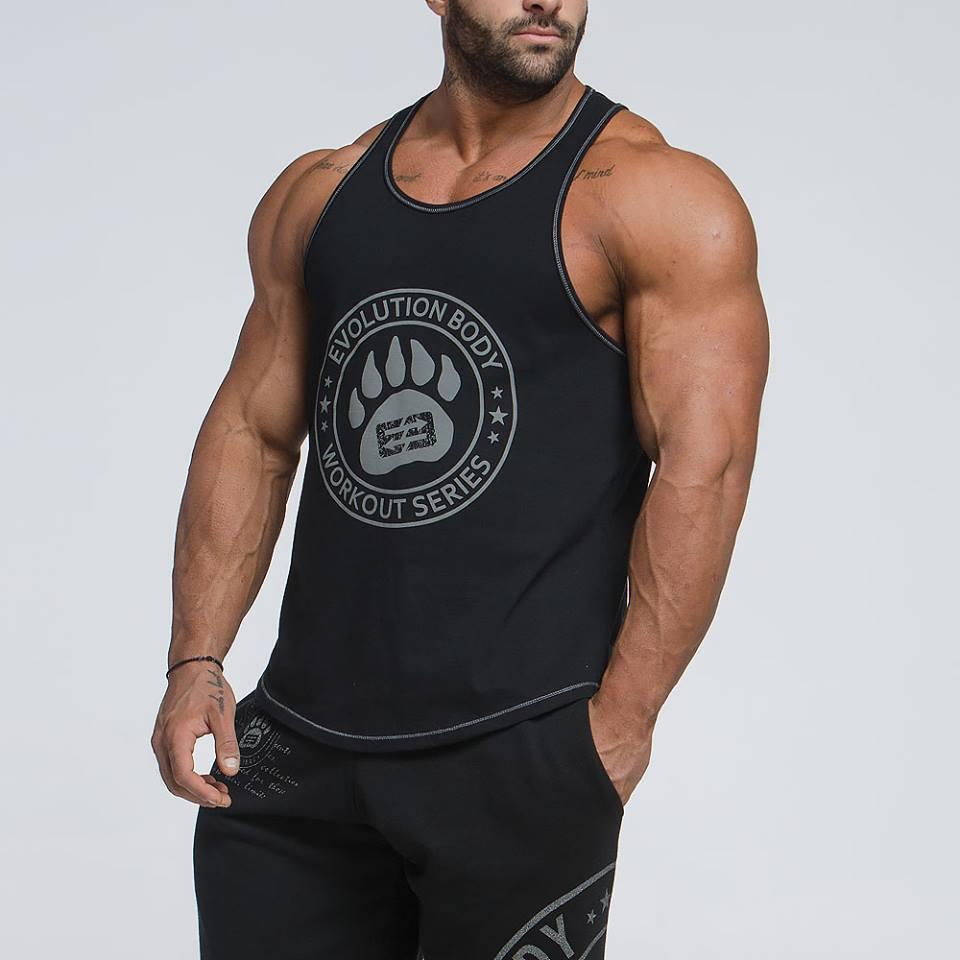 Mens T Shirt Vest Esporte Curto Vest Formação respirável Elastic Casual Muscle Man mangas O-Neck Vest Gym Fitness Tee