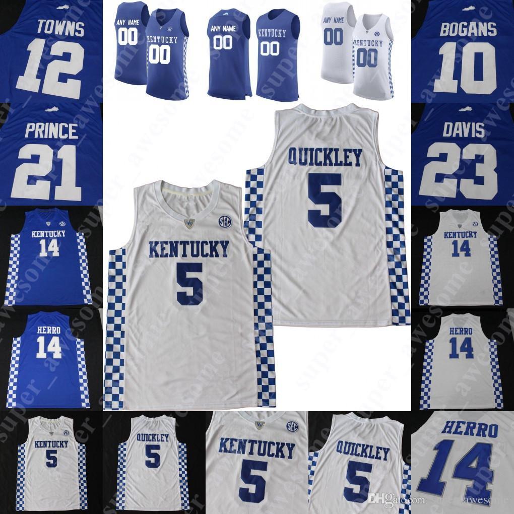 Kentucky Wildcats Баскетбол Джерси EJ Montgomery Tyrese Maxey Kahlil Whitney Ник Ричардс Иммануил быстрыми городами Дэвис Боганы Принс Нокс