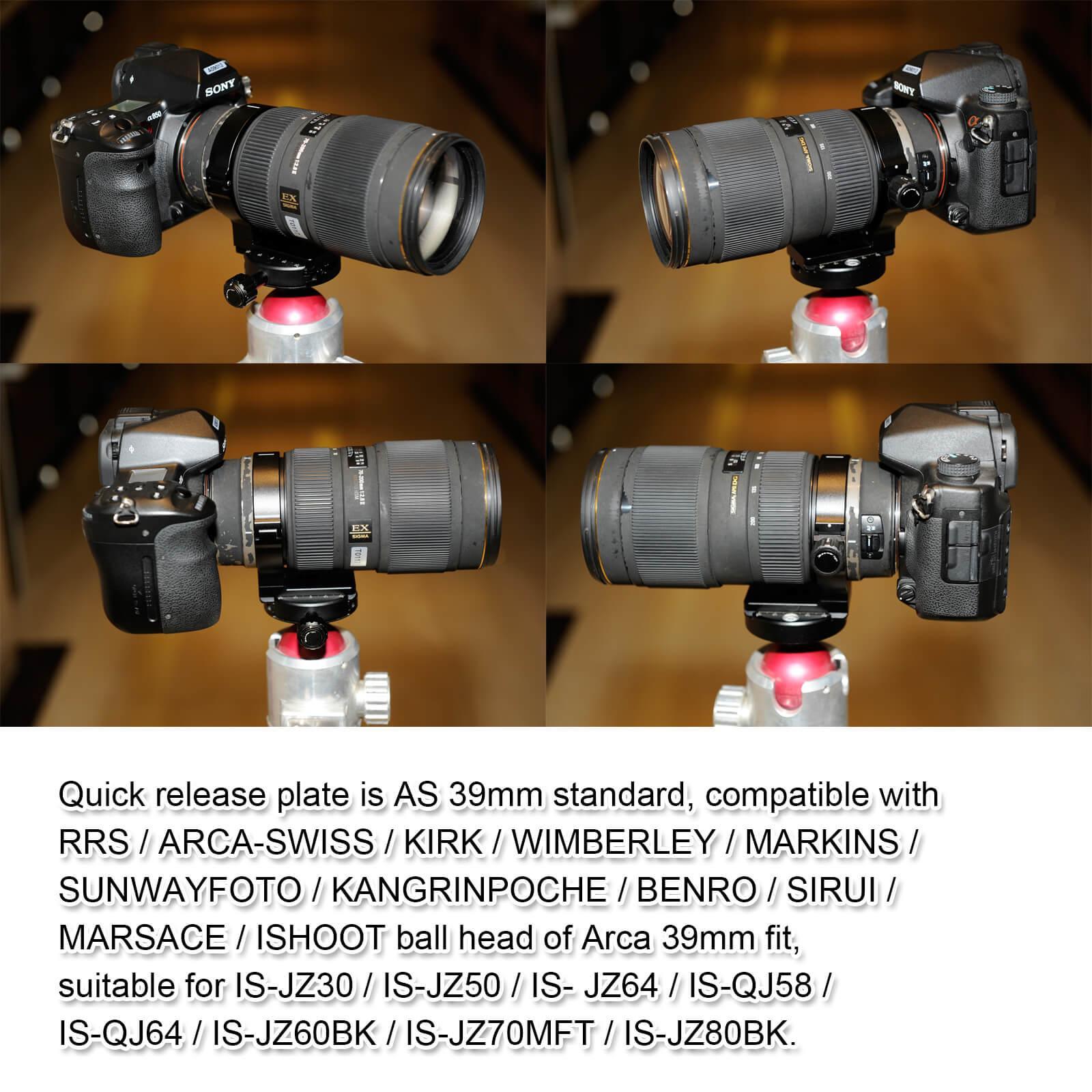 """Anillo de montaje en Trípode Cuello 71mm 1//4/"""" Para Sigma APO 70-200mm F2.8 II EX DG.."""