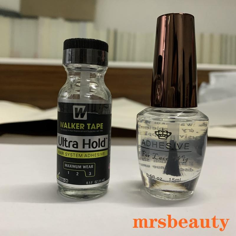 15ml Ultra Hold Glue Men Toupee Tape Hair System Adhesives Brush For Lace Wig/Toupee Soft-bond and 1 Bottle 30ml Remover