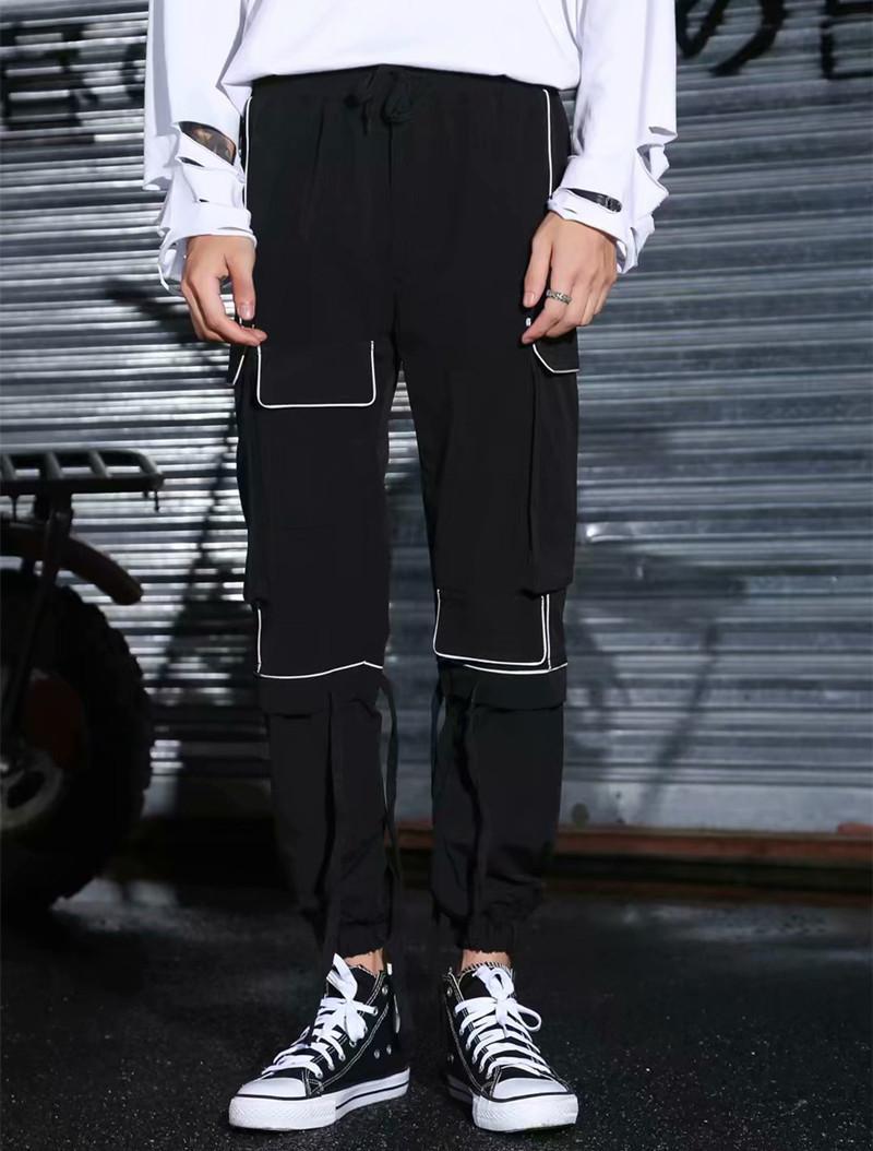 Pantalones para hombres 27-44 2021 Ropa Pelo Stylist Catwalk Overlist Original Harem Plus Tamaño Disfraces