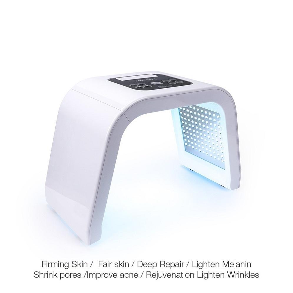 Profissional 7 Cores PDF Led Máscara Facial Light Therapy Dispositivo de rejuvenescimento da pele Spa Remover Acne Anti-rugas BeautyTreatment