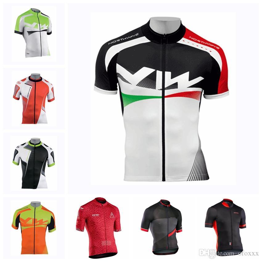 squadra NW su misura jersey uomini corte ciclismo breve estate manica corta asciutto rapido respirabile esterno camicia sport Jersey S9196