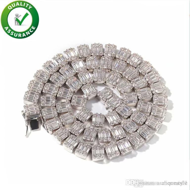 Iced Out Ketten Designer Halsketten-Hip Hop Bling Herrenschmuck Luxuxmann Diamant Halskette Cuban Link Tennis Rapper Mode-Accessoires
