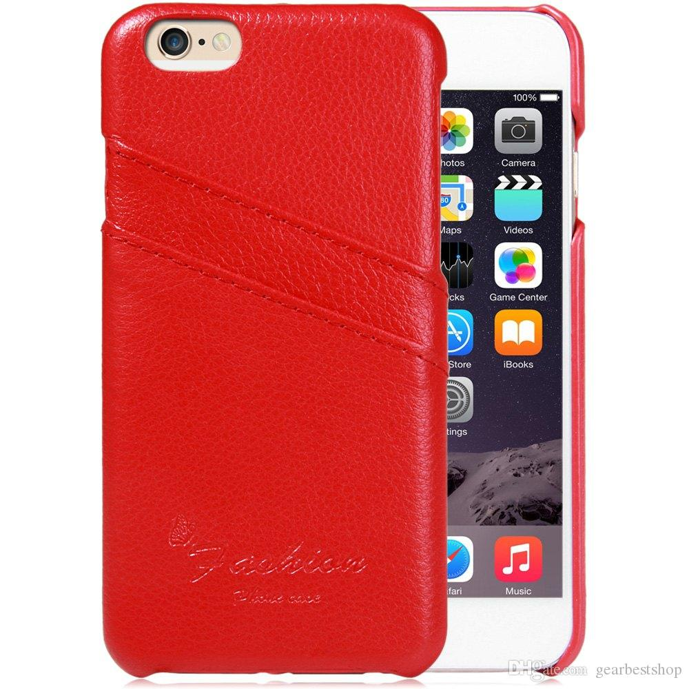 Litchi Pattern Back Cover Case with Credit Card Holder for iPhone 6 6S 4.7 inches