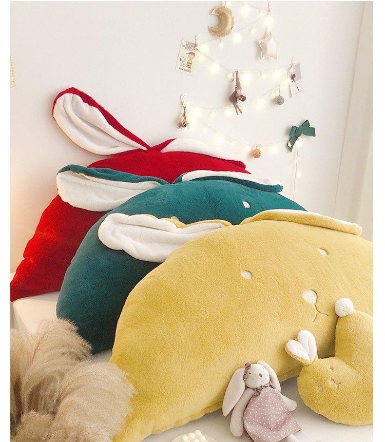 ins başucu arkalığı kanepe yastık yastık çıkarılabilir ve yıkanabilir nakış sevimli prenses rüzgar tavşan tavşan kulaklar rüzgar