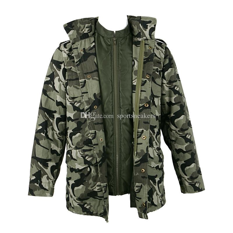 Manteau de camouflage pour jeune homme vestes militaires en coton M65 avec doublure détachable nouvelle arrivée pour l'hiver et l'automne