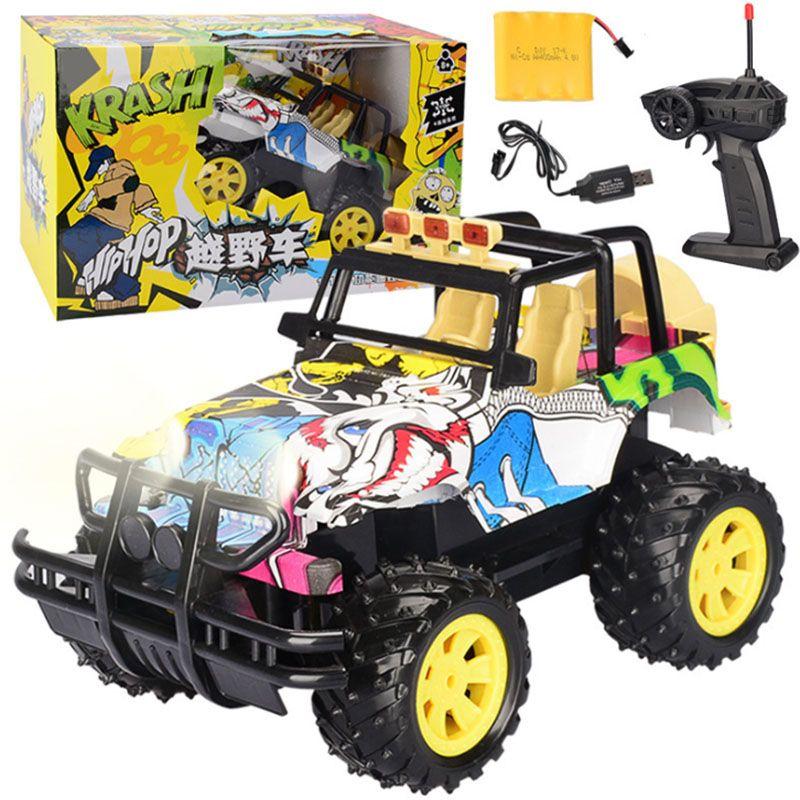 infantil Electric Brinquedos Mini Remote Control Car Modle DIY Doodle SUV Escalada remotos Presentes Car Control educacionais