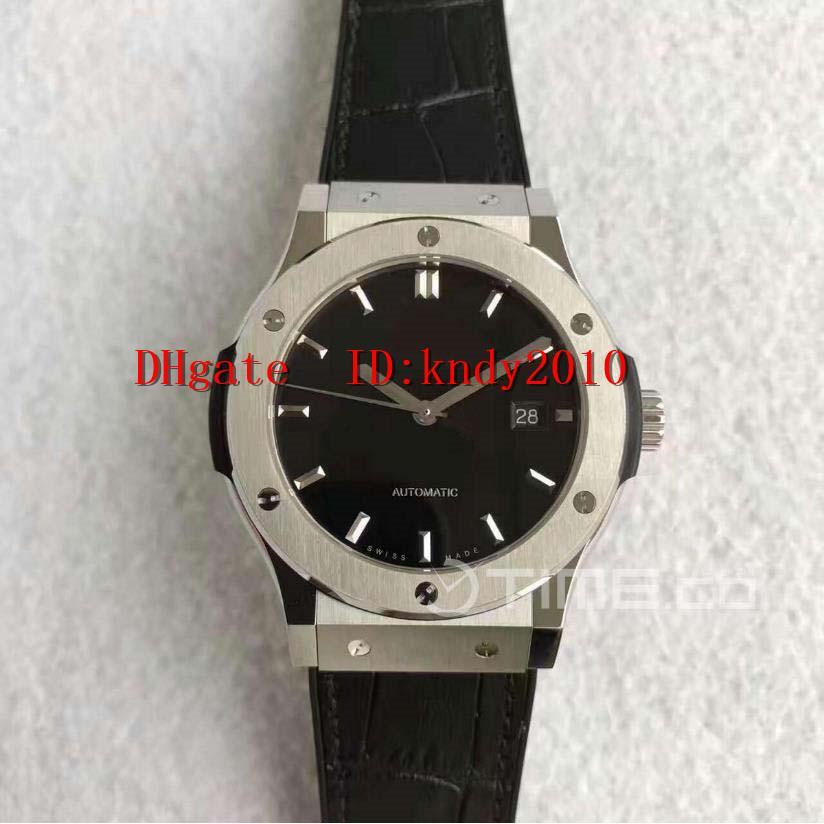 JJ Factory 542.NX.1171.LR Мужские швейцарские часы 42mm черный циферблат Титановый корпус издание сапфировое водостойкой A2892 Механические часы