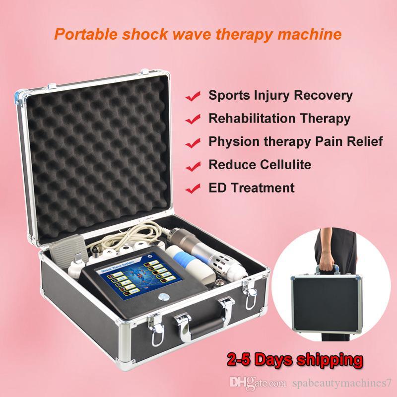 2019 NOVO equipamento de terapia por ondas de choque portátil shockwave para tratamento de ED equipamento de terapia por ondas de choque extracorpóreas