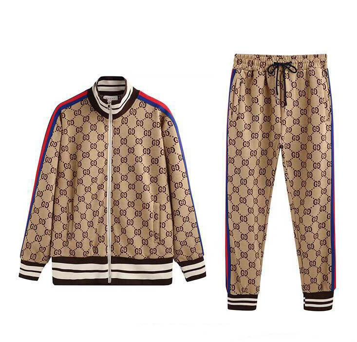 20 21 new autumnAutumn men's sportswear Sweatshirt suit fashion sports suit men's hoodie jacket jacket men's Medusa sportswear sport tshirt