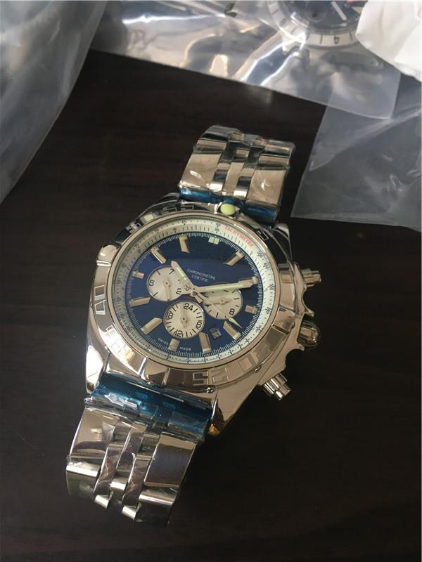 높은 품질 남성 시계 남성 기계식 시계 스테인레스 스틸 자동 남자 209-2에 대한 자동 날짜 손목 시계