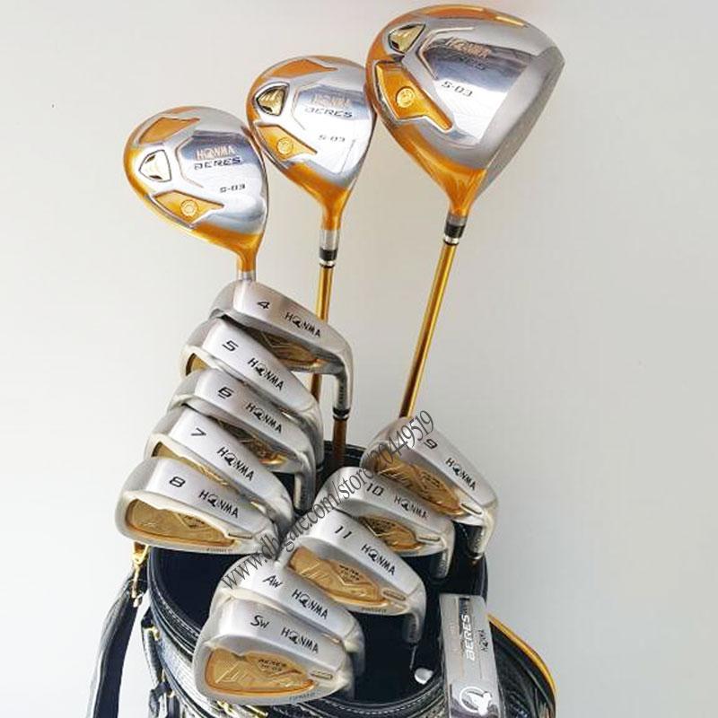New Men 4star Golf clubs HONMA S-03 Golf full set Golf Driver wood irons Putter No bag HONMA Clubs Graphite shaft Free shipping