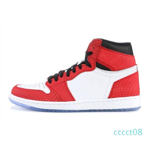Новый Jumpman 1 1S ель аура высокие баскетбольные туфли для мужчин женщин зеленый Yellolw красный черный пальцы спортивная обувь кроссовки тренеры ct08