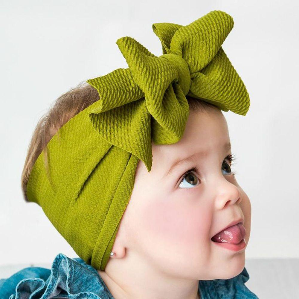 Babys großer Bogen-Kreuz-Stirnband-Kinder-Haar beugt elastische Kopfbedeckung Kopfschmuck Haarband Headwrap Turban Knoten Kinder Haarschmuck