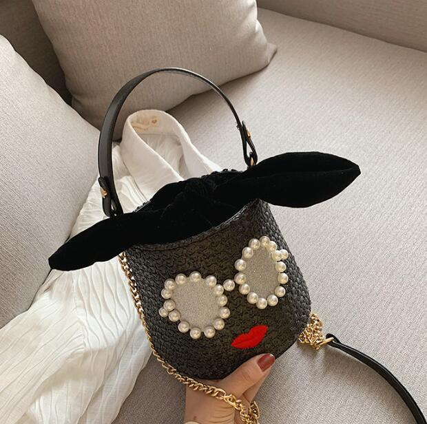 Designer menina Bucket Bag Mulheres bonito Bolsas de praia Mini Shoulder Bag Luxo Crossbody Estudante Amizade Bolsas Cadeia Bolsas