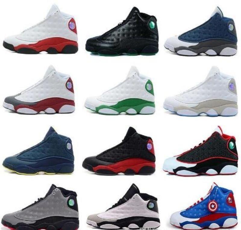Zapatillas de baloncesto para hombre Hot 13s Gorra Atmósfera gris sucio Bred Chicago Hyper Royal Grey Toe negro Cat Olive 13 Hombres Zapatillas deportivas