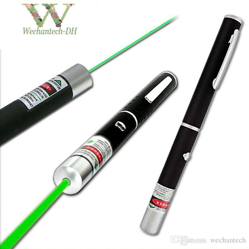 Jagdlicht 532 NM 5mw grüner Laser-Anblick Laser-Zeiger-Hochleistungsstarkes Gerät justierbare Fokus Lazer Laser-Feder-Kopf Brennen