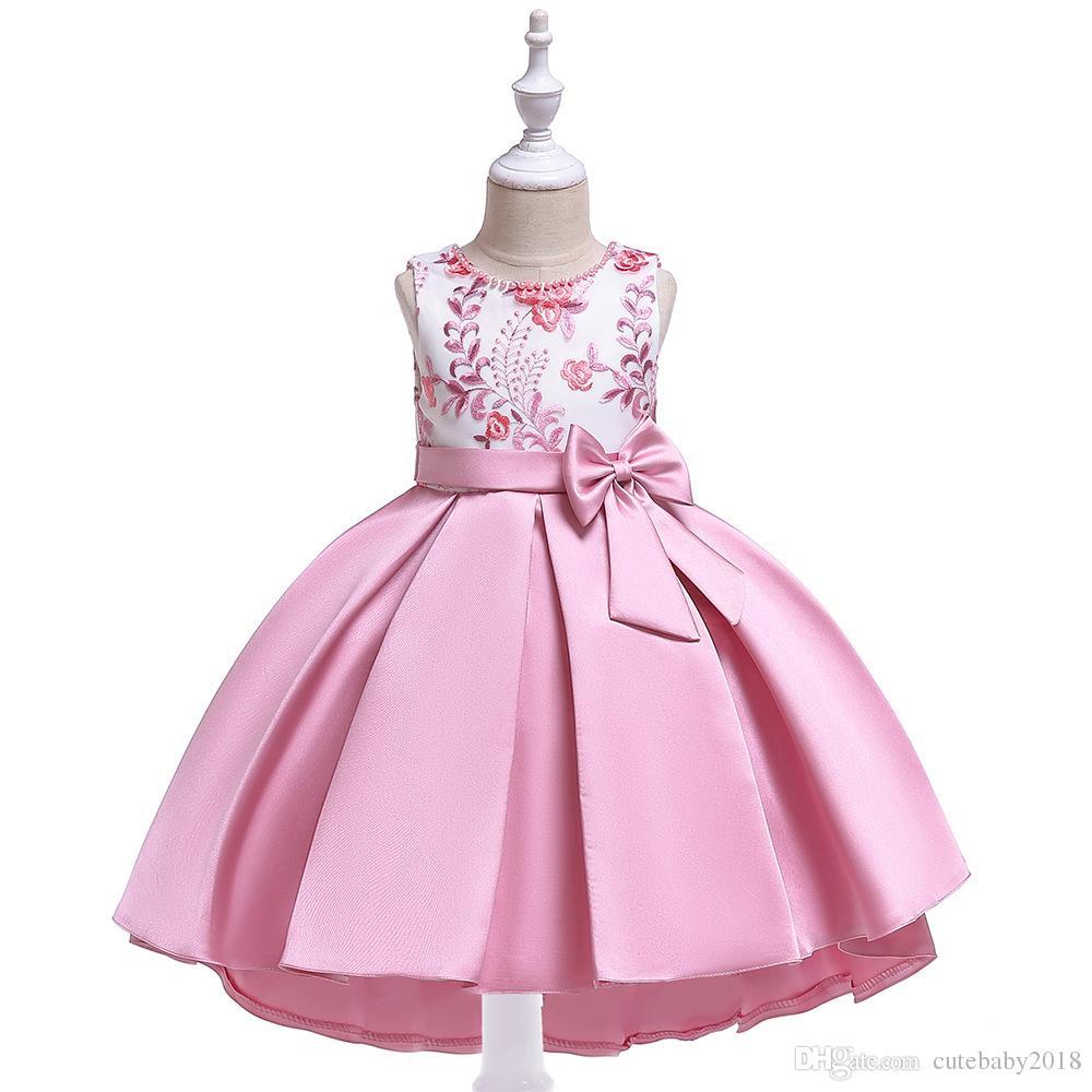 Compre Diseñador De Los Vestidos De Los Bebés Del Vestido De Bola 2019 Pascua Pascua Pretty Princess Dress Tutu Bordado Niña De Las Flores Vestidos De