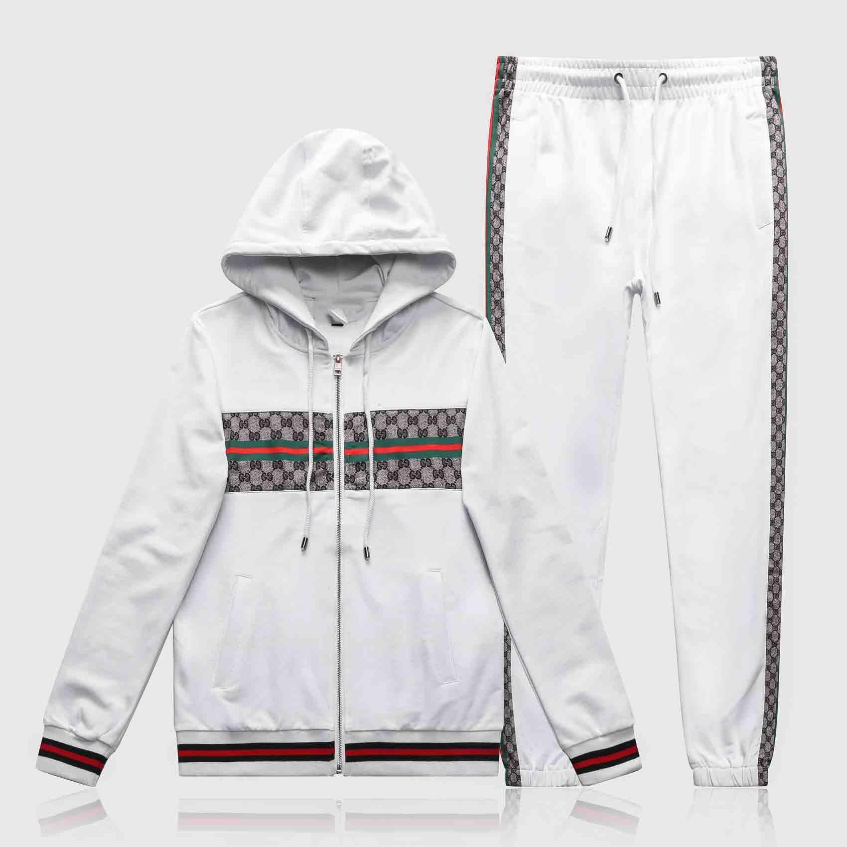 2020 NewHigh 품질 남성 스웨터 땀 정장 디자인 패션 남성 운동복 재킷 스포츠는 조깅 정장을 설정합니다
