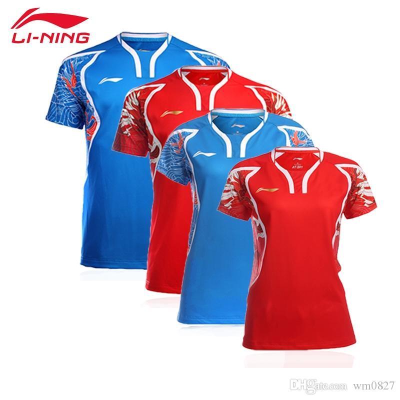 New 2016 Rio Olympischen Spielen Li-Ning Badminton einheitliche T-Shirts für Männer und Frauen Anzug Shorts mit kurzen Ärmeln, Tischtennis-Jersey-Shorts Sets