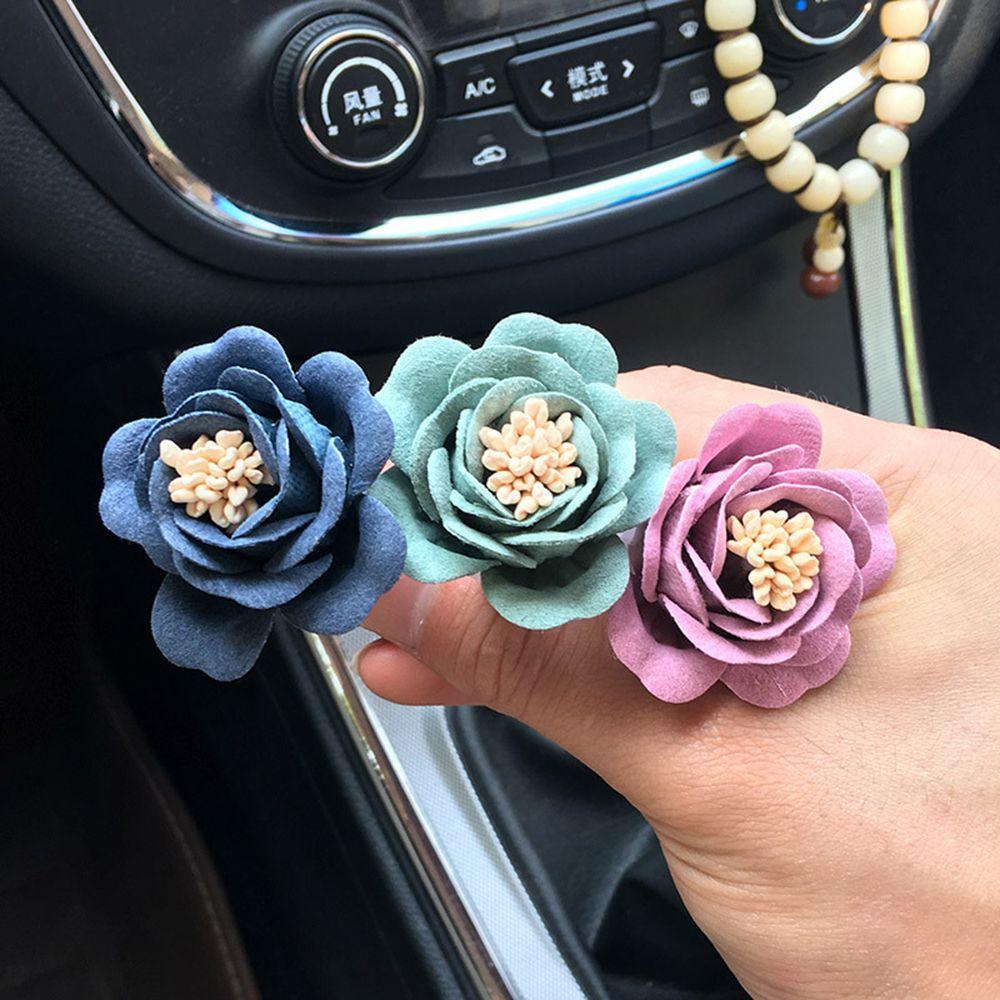 1pc New Balsam Flower Car Air Freshener tomada Perfume Camellia Decoração Air Vent Clipe Auto Fragrance Car Acessórios Interior