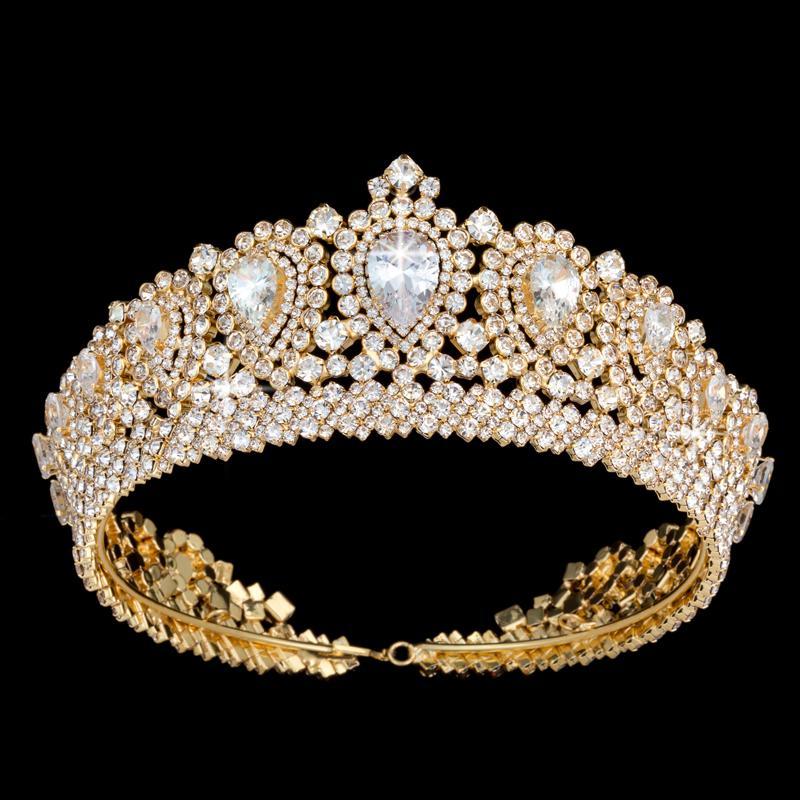 Hadiyana Nuova Bling Wedding Crown Tiara Diadem con zirconi di cristallo Donna Elegante diademi e corone per il partito di spettacolo BC3232