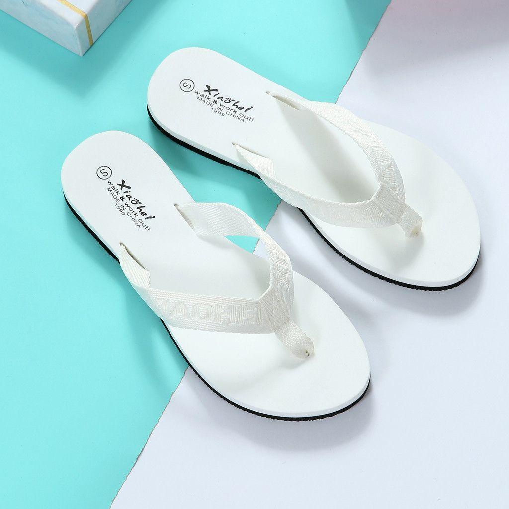 İlkbahar Yaz Düz Terlik Bayanlar Bohemya Plaj Flip Flop Kaymaz Hafif Flats tokat attı Kadın Ayakkabı Chaussures Femme