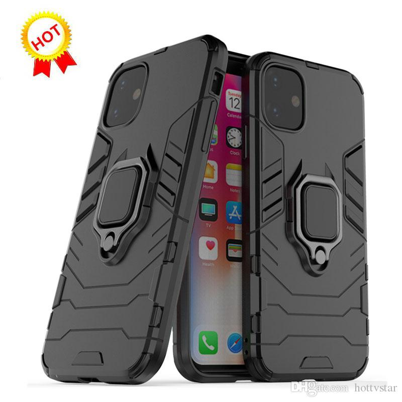 Luxe Stand Case Armure Téléphone Support pour iPhone 7 8 Plus X XS Max 11 Pro Max Hybrid TPU dur PC ShockProof pour iPhone 11