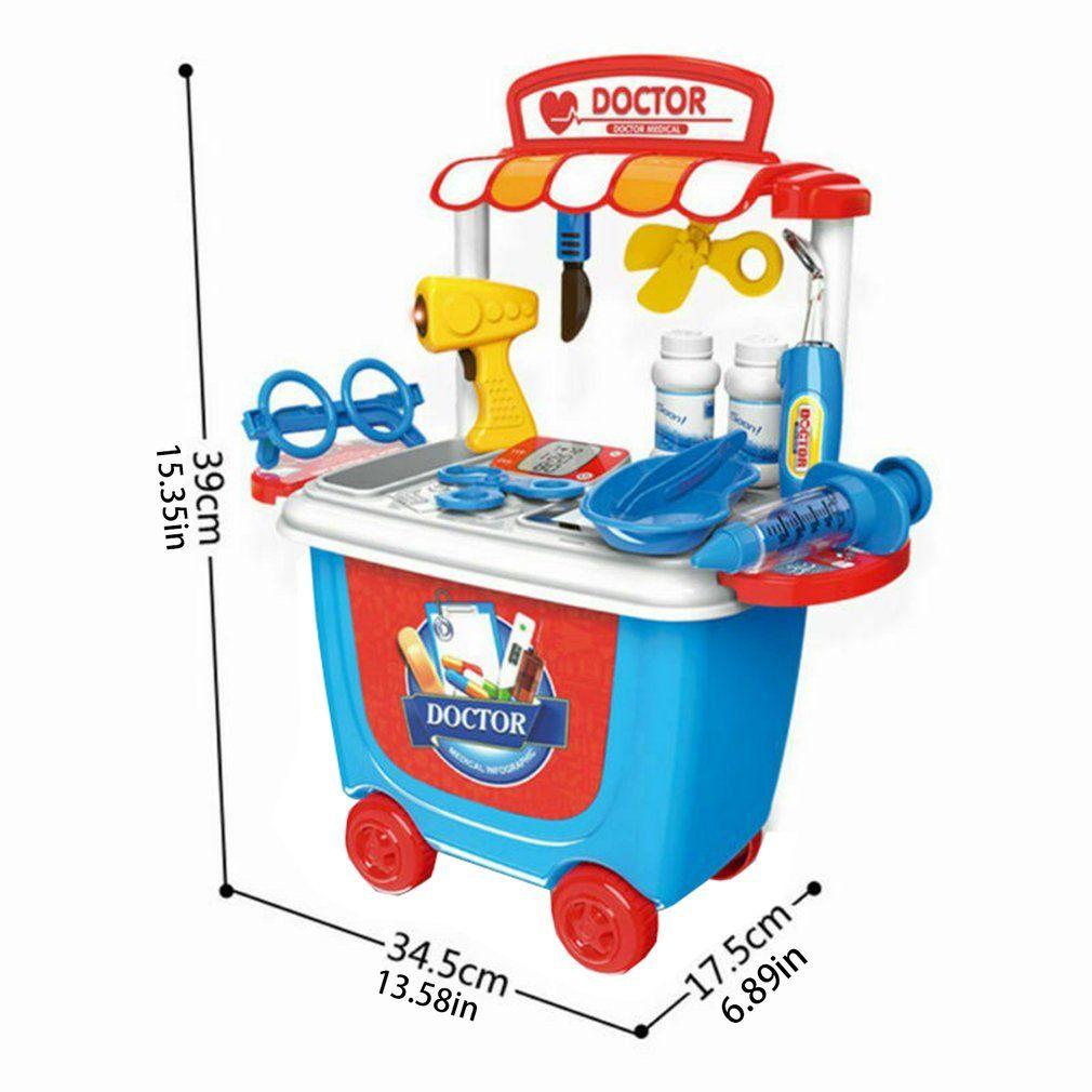 Toy Educacional Crianças Crianças Medical Caso Kit Doutor Nutrição Troca de Papel Aprendizagem Toy presentes Set Role Play Set Infantil