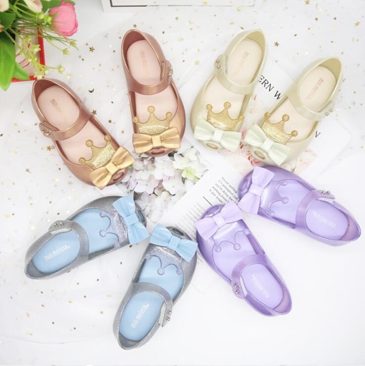 봄 여름 아기 비치 샌들 플라스틱 활 천으로 아기 물고기 입 어린이 신발 캔디 미니 멜리사 여자 신발 냄새