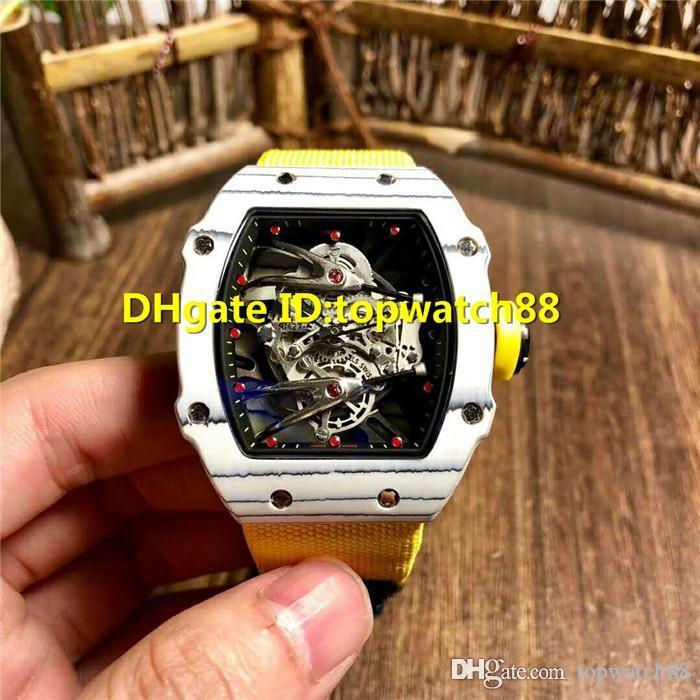 Nuovo RM27-02 Guarda il progettista del mens orologi in fibra di carbonio Swiss Automatic Tourbillon Sapphire Crystal Antimagnetico antiurto orologio Mens