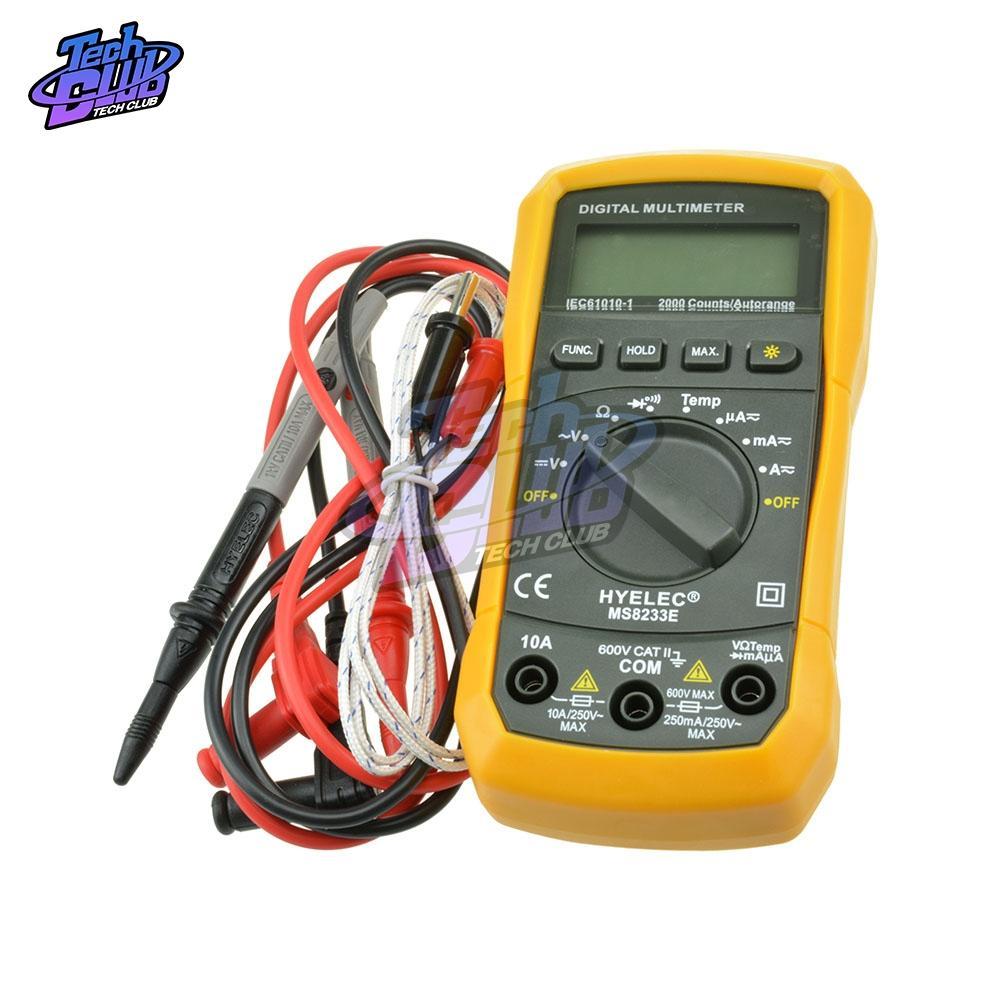 MS8233E Portable LCD Digital Multimeter Meter Pocket Handheld AC DC Ammeter Voltage Multitester Tester Electrical Instruments HR