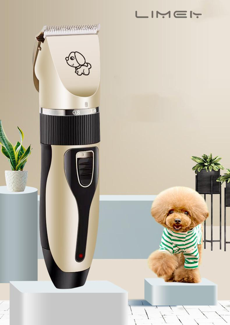 المهنية الاستمالة كيت الكهربائية قابلة للشحن كلب القط الحيوان الشعر المتقلب المقص الحلاقة الحلاقة مجموعة آلة قطع FY4070